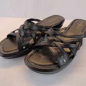 Cole Haan Ezra Slide Wedge Black Size 8.5